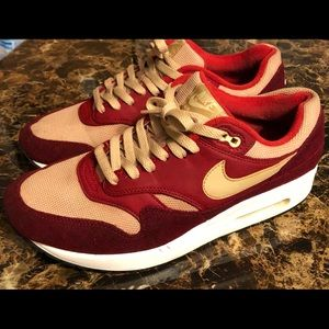 """Nike Air Max 1 """"Red Curry"""" Size 9.5 US"""